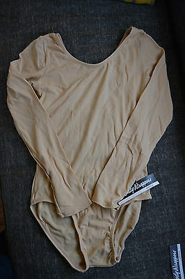 Body Wrappers Long Sleeve Nude Leotard Adult Sz. Large Style 209
