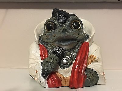 Toad Hollow Elvis Toad Frog The King Garden Home Decor EXCELLENT!