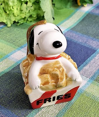 Snoopy Ceramic ornament Snoopy french fries