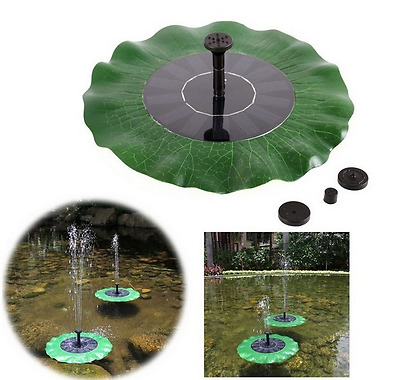 Solar Power Floating Lily Fountain Pump Kits Garden Pool Watering Features
