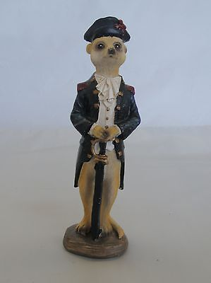 Captain Meerkat with Sword Figurine/Statue * New * Meerkat Gift