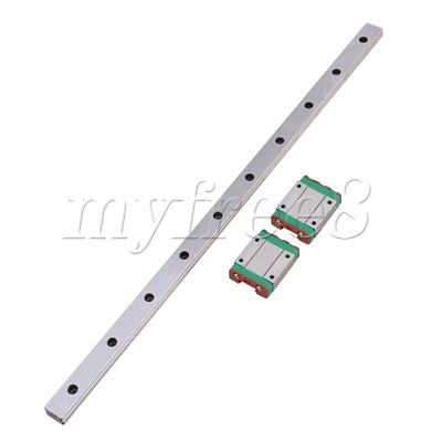 3x BQLZR 40cm MGN15 Bearing Steel Linear Sliding Guide Rails & Block Silver