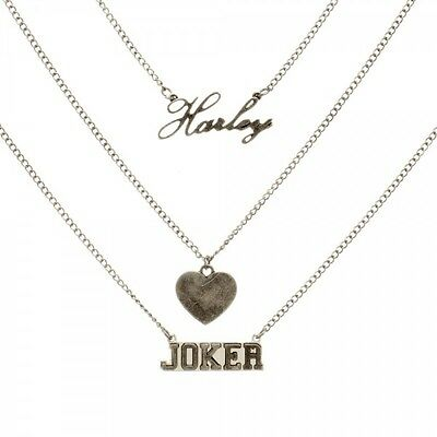 Suicide Squad Harley Quinn and Joker Necklace New BIOWORLD