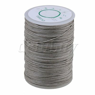 Gray 100M Sewing Hemp Round Waxed Thread Cord 0.7mm Dia for DIY Handwork