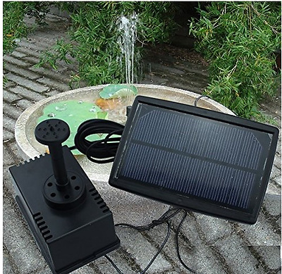 Fountain Pump Kits with Solar Panel Fish Tank Garden Pool Outdoor Fashion