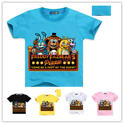 FNAF Kids Boys Girls Five Nights at Freddy's Tee T-Shirts Top Shortsleeve TShirt