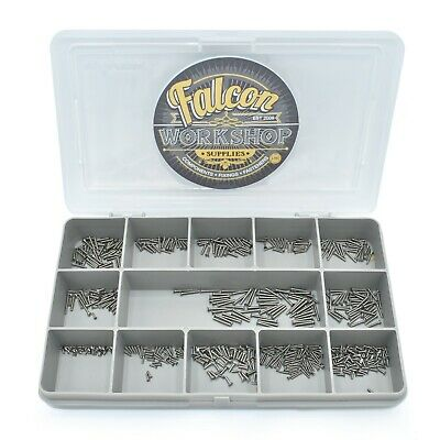 280 Assorted A2 Stainless Steel M1 M1.2 M1.4 Slotted Csk Machine Screws Bolt Kit