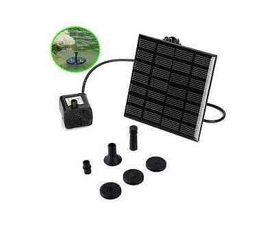 Small Fountain Pump Kits with Solar Panel Fish Tank Garden Outdoor Fashion