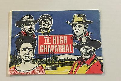 The High Chaparral Trading Card Wax Wrapper Vintage Monty 1971