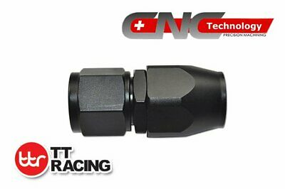 AN-6 6AN Black Straight Swivel Seal Fitting Hose End for Braided Fuel Line