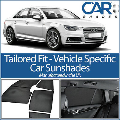 Audi A4 4dr 2015> (B9) UV CAR SHADES WINDOW SUN BLINDS PRIVACY GLASS TINT BLACK
