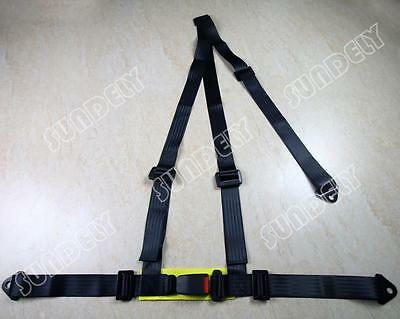 Hi-Q Car Vehicle 3 Point Racing Safety Harness Strap Seat Belt Bolt In Black AU