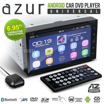 """AZUR AND5050 6.95"""" FHD 1080P 2 DIN Android OS Car CD DVD Player Stereo (Japan)"""