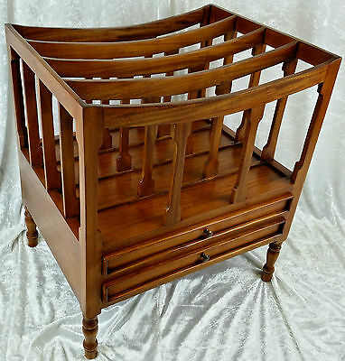 Beautiful New Solid Mahogany Canterbury Record/magazine Rack.