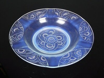 Coupe plat verre opalescent SABINO FRANCE 30 cm