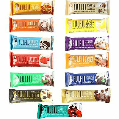 Fulfil Individual Bars & Taster Packs 55g Vitamin & Protein Bars All Flavours