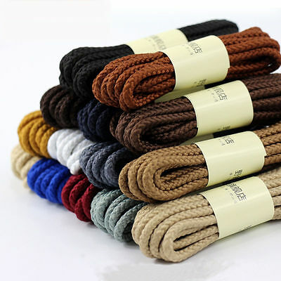 NEW Round Boot Laces Walking Hiking Boot Laces Bootlaces Sneaker Shoelaces