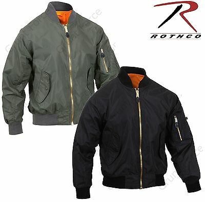 f870dc370 MENS LIGHTWEIGHT MA-1 Flight Jacket - Rothco Military Air Force Style Coat