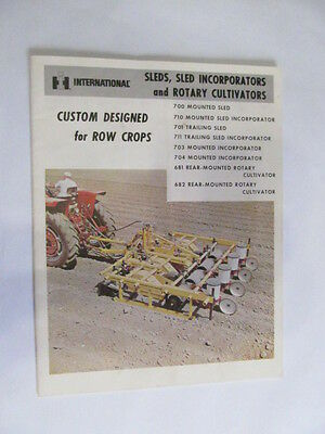 International Harvestor Sleds Rotary Cultivators 700 710 701 711 703 704 681 682