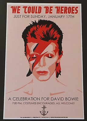 David Bowie We Could Be Heroes Tribute Poster January 17, 2016 The Anchor - NY