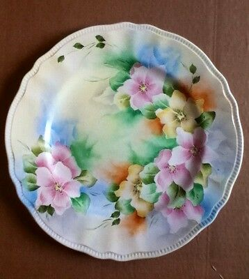 F.M. Beacom Bareuther Barvaria Germany Floral Plate
