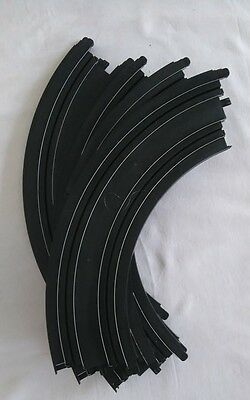 Micro Scalextric Curved  Bend Track L7555 X 6