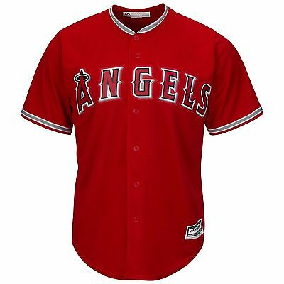 Los Angeles Angels Blank Red Cool Base Alternate Jersey Size Kids 5/6 D344