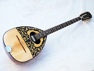 Rosen :: Greek Acoustic  Bouzouki  With Pick Up  And Truss Rod W/ Belt New !!!!!
