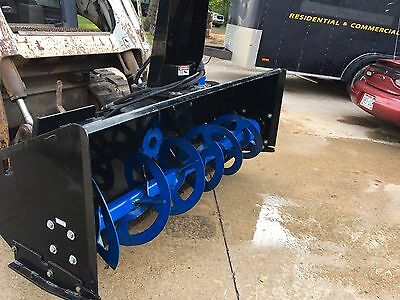 "2 Stage Single Auger Skid steer Snowblower Model Au-01-1501 72""width"