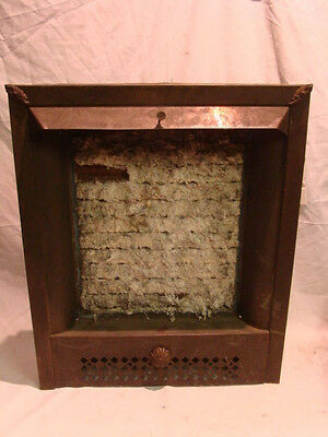 Antique Late 1800's Summer Tin Ornate Gas Fireplace Insert Cover Frame B