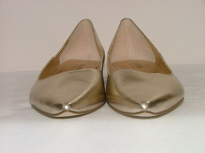 "Ladies Gold, Size 10 Flat "" Guess"" Shoes By Marciano"