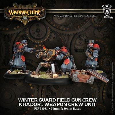 WARMACHINE Khador PIP33051 Winter Guard Field Gun Crew NEW