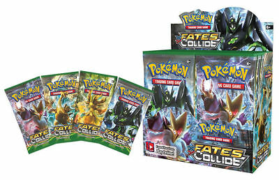 Pokemon TCG Fates Collide 5 Booster Packs New Sealed Trading Cards 10/packet