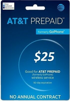 AT&T Go Phone $25 Refill - Fast & Right!