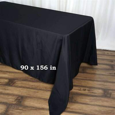 5 Pack 90x156 in. Polyester Rectangle Seamless Tablecloth Wedding Party Decor