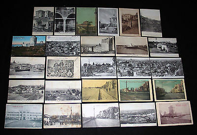 LOT de 26 CPA SALONIQUE GRECE GREECE INCENDIE VILLE PORT ANIMATION QUARTIER TURC