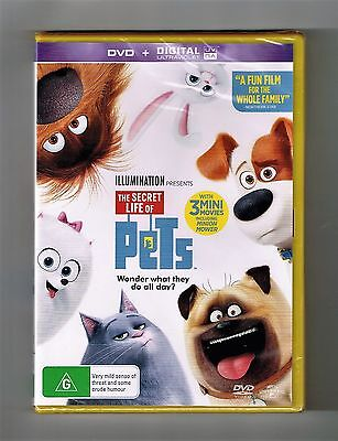 The Secret Life Of Pets Dvd Brand New & Sealed
