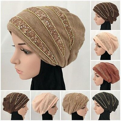 Women Muslim Cap Hijab Double layer Bonnet Cover Hat Islamic Fall Winter