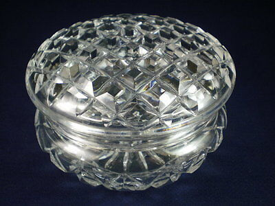 Crystal Glass Powder Pot