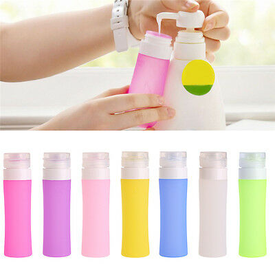 Silicone Travel Shower Packing Bottle Lotion Shampoo Bath Container Press Bottle
