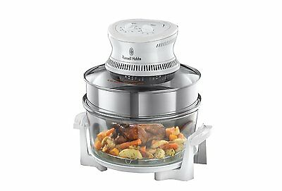 Russell Hobbs 18537 Halogen Oven with Timer, 1400 W - Silver