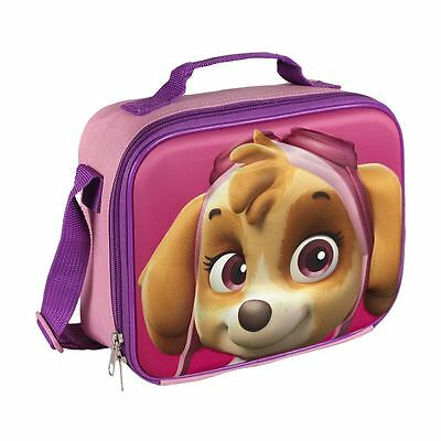 Children Kids Paw Patrol 3D Effect Insulated Pink Lunch Bag