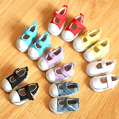 5cm Doll Shoes Canvas Mini Toy Shoes1/6 Bjd For Russian Tilda Doll Sneackers