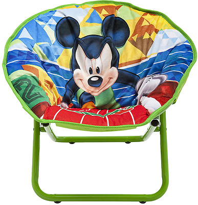 Delta Children Mickey Mouse Saucer Chair, Kids Collapsible Seating By Delta