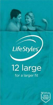 NEW Ansell Lifestyles Condoms 12s Large