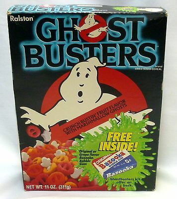 1985 Ghostbusters Cereal Box Ralston Purina Slimer Mail Away Kit Offer