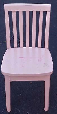 Nice Child's Size Wooden Chair - PAINTED PINK - VGC - NEEDS CLEANING AND PAINT