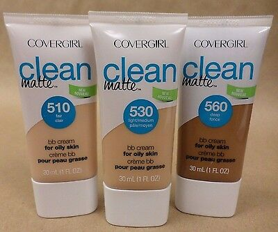 CoverGirl Clean Matte BB Cream *Choose Your Shade* for Oily Skin New Exp 01/18 +