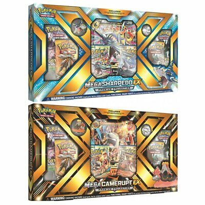 POKEMON TCG Mega Camerupt & Sharpedo- EX Premium Collection - BOTH