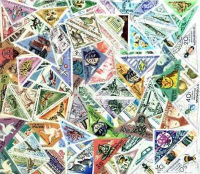 Triangles Stamp Collection - 200 Different Triangle Shaped Stamps